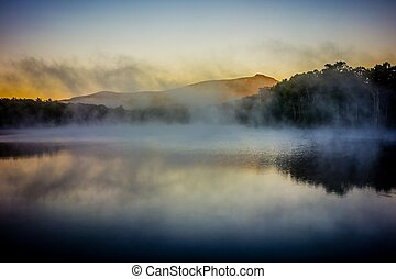Grandfather Mountain Sunrise Reflections on Julian Price Lake in the Blue Ridge Mountains of Western North Carolina