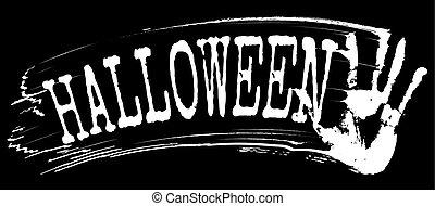 Halloween text, vector illustration