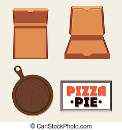 Pizza pie and carton box design - Pizza pie and carton box...