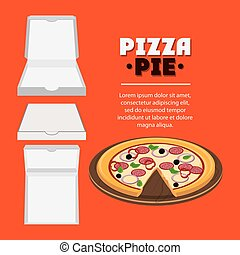 Pizza pie and carton box design - Pizza pie and carton box...
