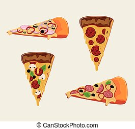 Pizza pie and fast food design - Pizza pie icon. fast food...