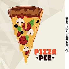 Pizza pie and fast food design - Pizza pie icon fast food...