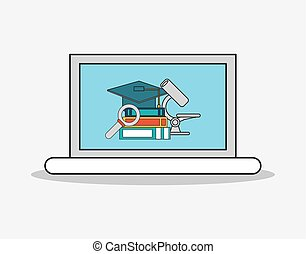 education and academia related icons image - flat design...