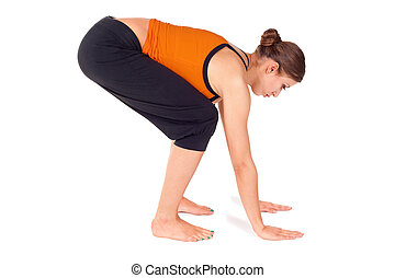 Woman Practicing Yoga Exercise