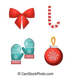 set decoration merry christmas design