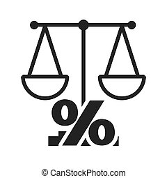 scale balance with economy icon vector illustration design