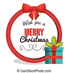 merry christmas card greeting gift design