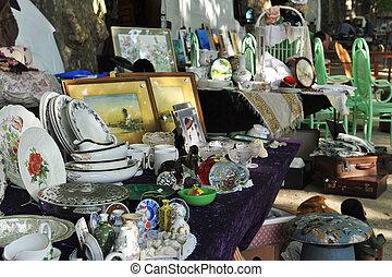 Flea Market - Ancient and obsolete objects in Flea market