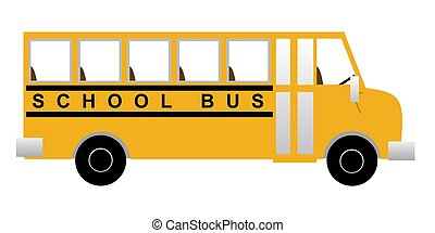 School Bus - Illustration of a school bus from the side