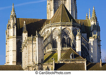 detail of Auxerre Cathedral, Burgundy, France