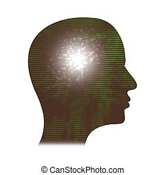 Complex thought - abstract Illustration of a persons head...