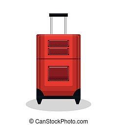 hjul, Konstruktion, Rød, Kuffert