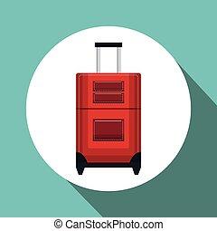 Rejse, Konstruktion, ferie, Rød, Kuffert