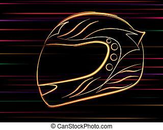 motocicleta, capacete