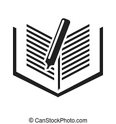 text book with education icon vector illustration design