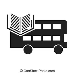london bus with learning icon