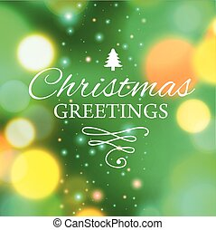 Merry Christmas e-card template Vector illustration - Vector...