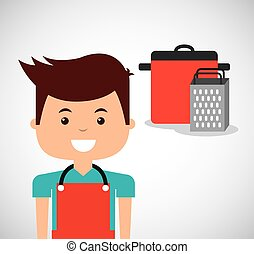 chef avatar cooking food icon vector illustration design
