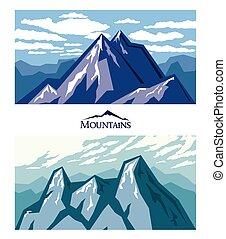 Forbidding mountains Mountain climbing Adventure Nature...