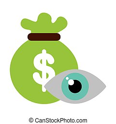 eye view security system icon vector illustration design