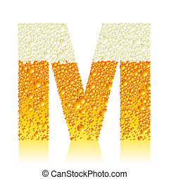alphabet beer M, this illustration may be useful as designer...