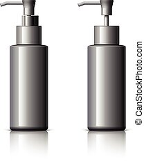 Cosmetic glass bottle can sprayer container. - Realistic...