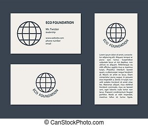 Eco Business Card and Flyer