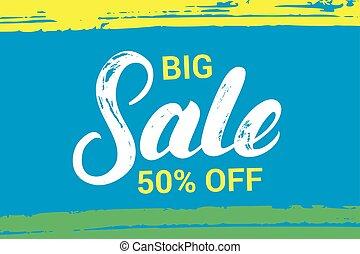Big sale hand written lettering.