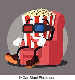 popcorn watching 3D movie