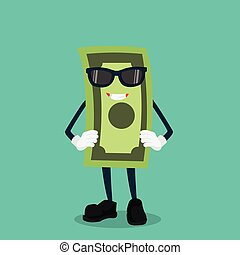 money man cool with sunglasses illustration design