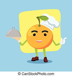 orange man being chef