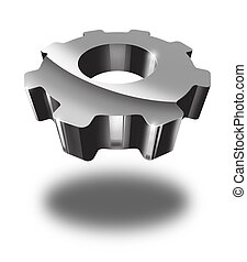 cogwheel - 3d cogwheel isolated on white background