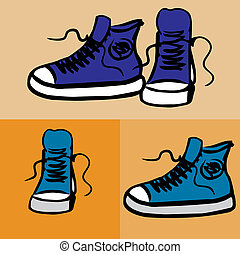 Sneakers. Hand drawn vector illustration
