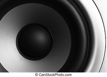 Closeup of a stereo speaker