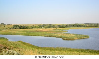 landscape with river in Russia - landscape with a river in...