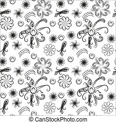 Seamless floral pattern. Vintage - Seamless floral...