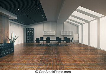 Boardroom with whiteboard