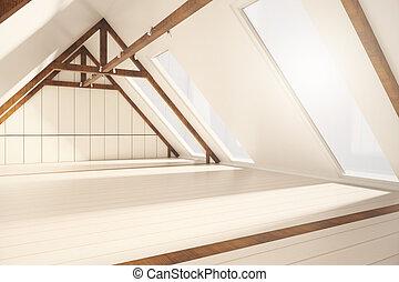 屋根裏, 内部, 側