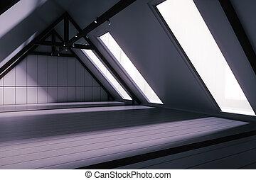 創造的, 屋根裏, 内部