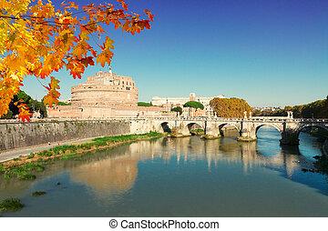 castle st Angelo, Rome, Italy - famous castle saint Angelo...