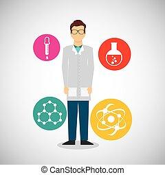 scientific laboratory worker concept