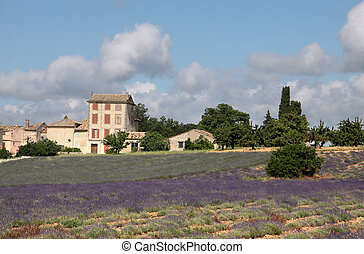 The village of Villars in Provence