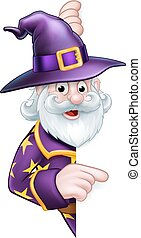 Cartoon Halloween Wizard - A cartoon Halloween wizard...