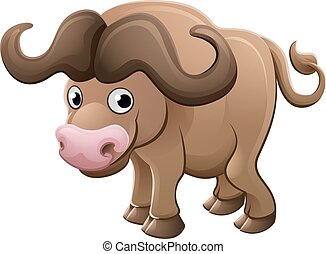 Bison Buffalo Animal Cartoon Character