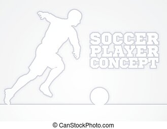 Soccer Player Silhouette Concept - A stylised illustration...