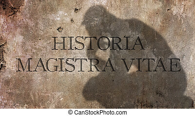 Historia Magistra Vitae. A Latin phrase that means History...