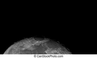 moon.mov - real moon with craters visible on surface
