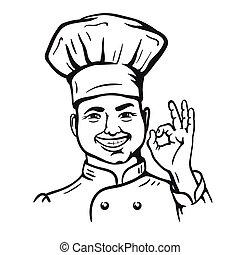 chief-cooker. vector cartoon