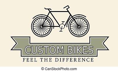 Custom bikes, vintage styled company template vector...