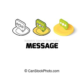 Message icon in different style
